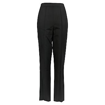 Isaac Mizrahi Live! Women's Pants Stretch Lollipop Ankle Black A351092