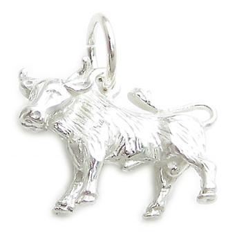 Taurus Zodiac Bull Sterling Silver Charm .925 X 1 Bulls Zodiacs Charms - 332