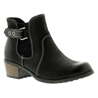 Earth Spirit El Reno Womens Ladies Leather Ankle Boots Black UK Size