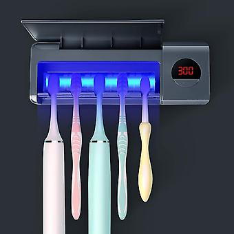 DSHOW UV Toothbrush Sanitizer, Bathroom Toothbrush Holder Wall Mounted with Sterilizer Function
