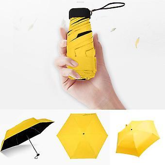Small Fashion Folding Umbrella Rain Women Men Mini Pocket Parasol Anti-uv