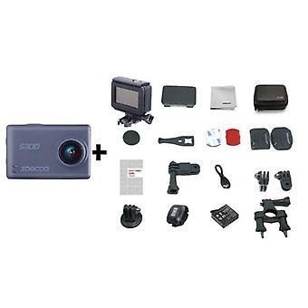 "Sport Cam 4k 30fps 2.35"" Pekskärm Hi3559v100 Imx377 Wifi Extern mikrofon Gps"