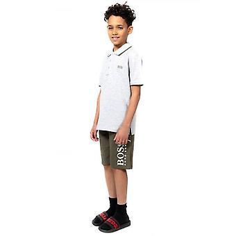 BOSS Kids Grey Tricou polo cu mânecă scurtă