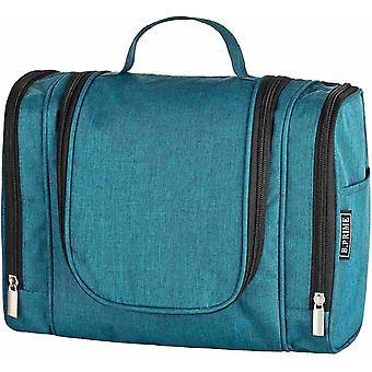 Wokex Kulturbeutel Classic XL Deep Blue & #8211; Premium Kulturtasche mit extra viel Stauraum zum