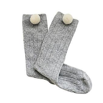 Uudet puuvillaiset vauvansukat Pompom neuloo polven korkeat vastasyntyneet sukat