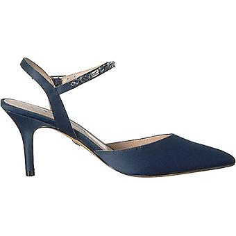 Nina Womens Tonya Leather Pointed Toe Ankle Strap Classic Pumps