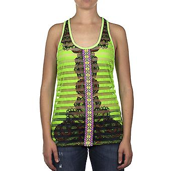 Custo Barcelona Women Tank top Lacet Paisely Band Multicolor