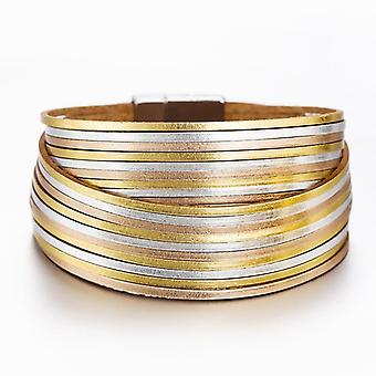 Multilayer Wide Wrap Bracelet For Woman