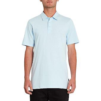 Volcom Hombres's Heather Polo Shirt ~ Azul Wowzer