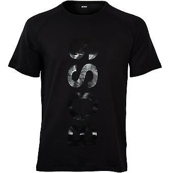 BOSS French Terry Silver Logo T-Shirt, Black