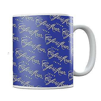 Cafe del Mar White Logo Pattern Mug