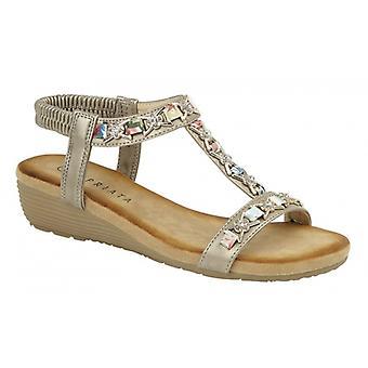 Cipriata Lia Ladies Ankle Strap Sandals Pewter