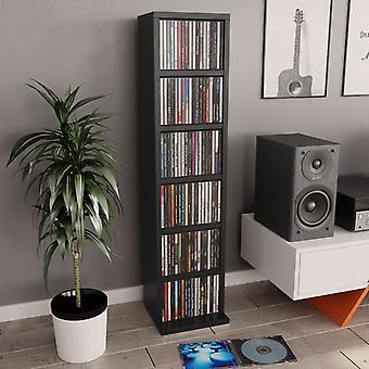 vidaXL CD Шкаф Черный 21x20x88 см ДСП