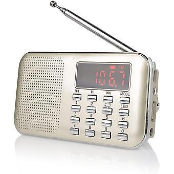 Wokex Raddy RF23 tragbar Radio Klein AM/FM Kurzwellenempfänger MP3 Musik Player, unterstützt Mikro