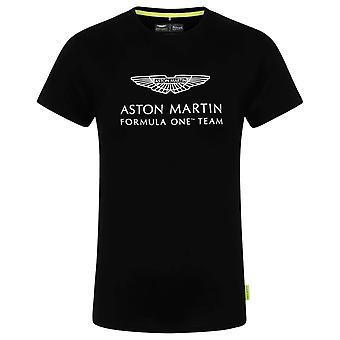 2021 Aston Martin Official Lifestyle Logo T-shirt (Black)