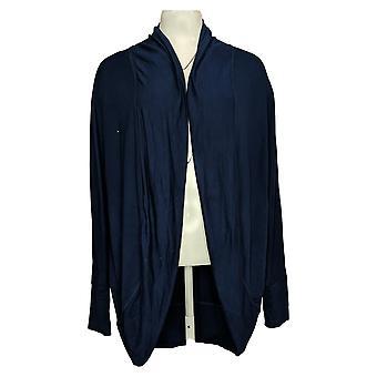Belle by Kim Gravel Women's Sweater Long Cardigan Blue A382349