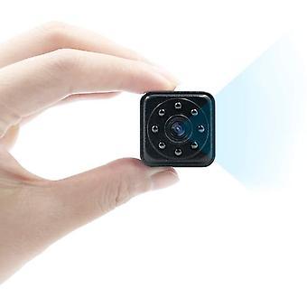 Spy Kamera, 1080P Mini Kamera HD Piilotettu Kamera Mini Turvakamera Liiketunnistus IR Night Vision kotiin, toimistoon, autoon, drone (musta)