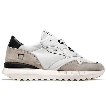 Uomno D.a.t.e. White Moon and Grey Leather Sneaker