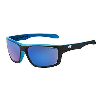 Dirty Dog Axle Sunglasses - Satin Black / Crystal Blue