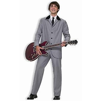 British Invasion Beatles Grey 60s Rock Men Costume