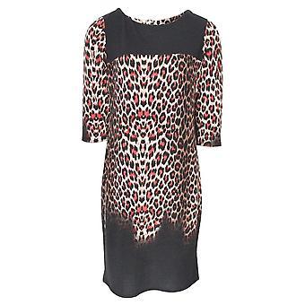 Frank Lyman Leopard Print Shift Dress With Sleeves