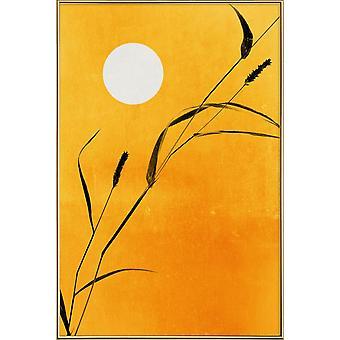 JUNIQE Print - Sunny Side - Sunsets Plakat i gul og orange