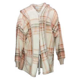 Koolaburra By UGG Women's Sweater Plus Cozy Shaggy Cardigan Beige A386142