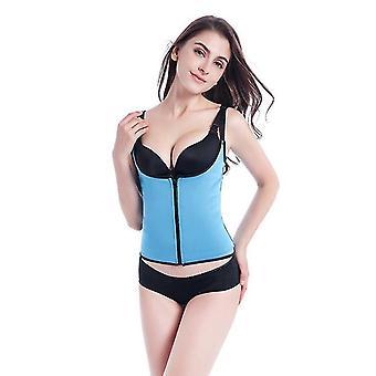 Cintura 72cm azul feminino espartilho de cintura corpo modelador de barriga queimador de gordura x2161