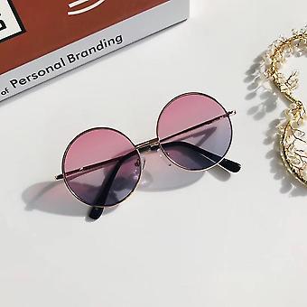 Retro Mini  Metal Frame Small Round Sunglasses