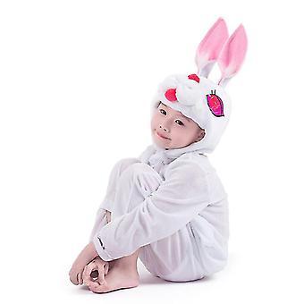M (120cm) weiße Kaninchen lange Cosplay Anzug Kostüm Bühne Kleidung Urlaub Kleidung cai469