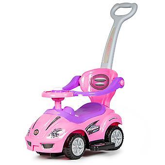 Duwauto loopauto deluxe meegroeiend – Roze