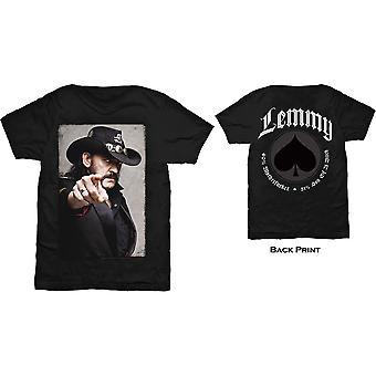 Lemmy - Pointing Photo Unisex Large T-Shirt - Black
