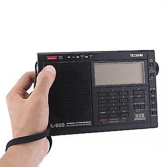 TECSUN PL-600 Digital Tuning Full-Band FM MW SW-SBB PLL Shortwave Stereo Radio Receiver com relógio