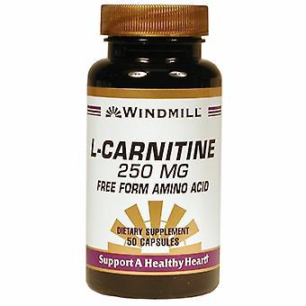 Windmill Health L-Carnitine, 250 mg, 50 Caps