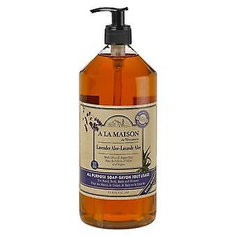 A La Maison Liquid Hand Soap Lavender Aloe, 33.8 Oz