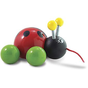Vilac Baby Ladybug Pull Toy