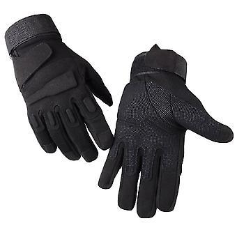 Black xl full finger plus velvet non-slip wear-resistant gloves homi2472
