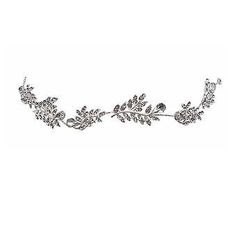 Wedding headdress leaf pearl crystal headband, bridal hair accessories, headdress