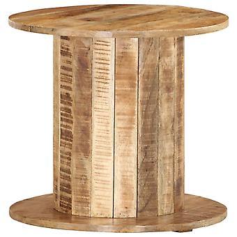 vidaXL Table ronde 50 x 50 x 46 cm bois massif de mangue rugueux