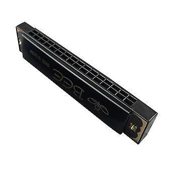 Mond orgel instrument 16 holes sleutel van C harmonica zwart
