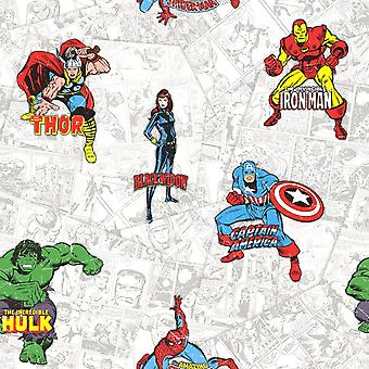 Muriva Marvel Heroes Multi Wallpaper 159503