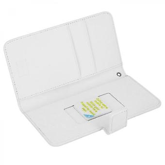 Muvit Wallet Cover White Universal Slide Cover Size M