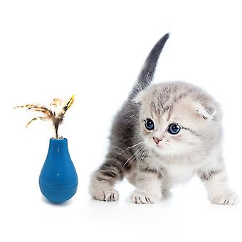 Cat Tumbler Toy Feather Funny Cat Stick Automatic Rotate 360