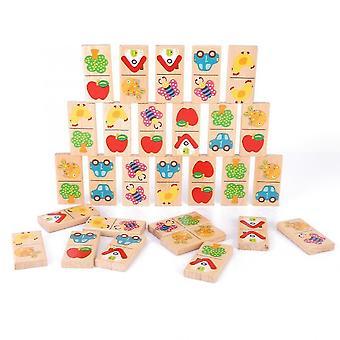 28 قطعة / مجموعة من لعبة مجلس دومينو للأطفال الحيوان سوليتير لغز لعب الأطفال