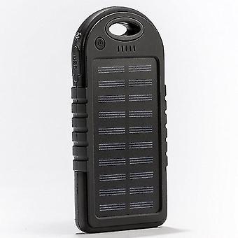 Aurinkolaturi, 5000mah kannettava aurinkovoimapankki Vedenpitävä / iskunkestävä / pölytiivis Dual Usb Battery