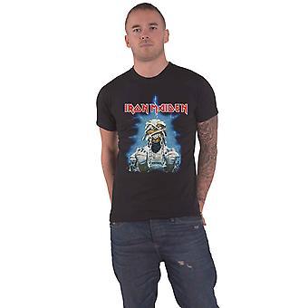 Iron Maiden T Shirt World Slavery Tour 84-85 Band Logo uusi virallinen Mens Black