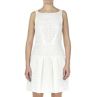 Emporio Armani Dámské šaty Pravidelné padnoucí Koleno délka rukávů bílá