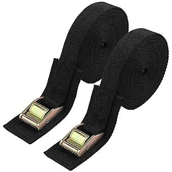 Vigorport Lashing Strap,16 FT Tie Down Straps Sturdy thickened Pad Cam Buckle Straps 2 Pack,5m x