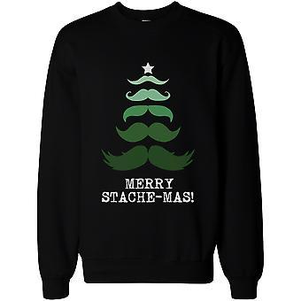 Vrolijk Stache-mas Pullover trui-leuke vakantie grafische Sweatshirts