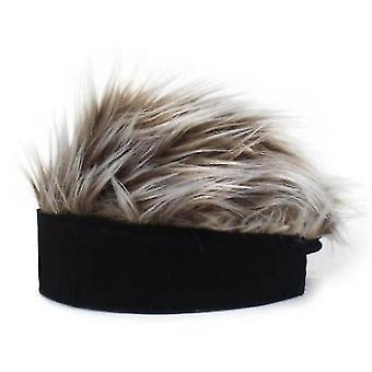Perruque chapeau laine drôle de chapeau bonnet tricot chapeau nouveauté (noir) cadeau d'halloween